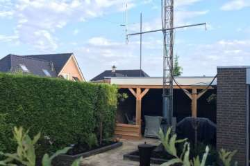 Tuinrenovatie Hollandscheveld met overkapping